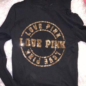PINK Victoria's Secret sequin zip up sweatshirt
